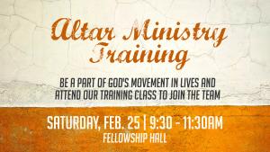 Altar Ministry Training @ Encourager Church - Fellowship Hall | Houston | Texas | United States