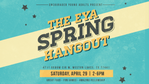 Young Adults Spring Hangout @ George & Christine Arzymanow's House | Fulshear | Texas | United States