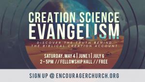 Creation Science Evangelism @ Encourager Church - Fellowship Hall | Houston | Texas | United States