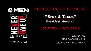 Men's Ministry | Bro's and Taco's @ Encourager Church | Houston | Texas | United States